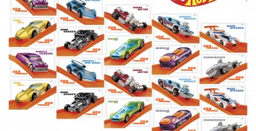 Commemorative USPS Hot Wheels Stamps Depict Most Popular Die-Cast Cars