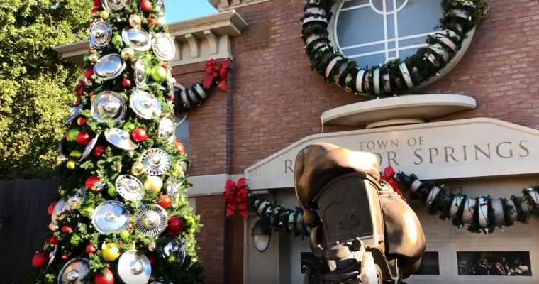 Disney California Adventure Park Decorates Cars Land for the Holidays