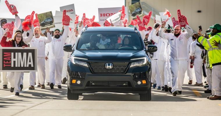2019 Honda Passport Production Underway in Alabama