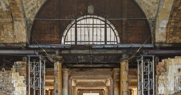 Construction Underway at Michigan Central Station