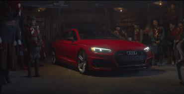 Santa Shapes Up, Drives Audi RS5 Sportback
