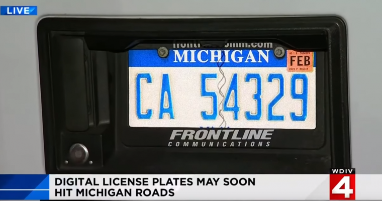 Digital License Plates Soon Available for Michigan Drivers