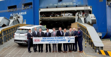 First Kia Telluride Exports Set Sail from Brunswick