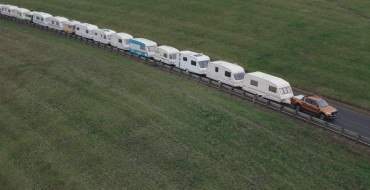 Ford Ranger Tows 15 Campers in New European Commercial