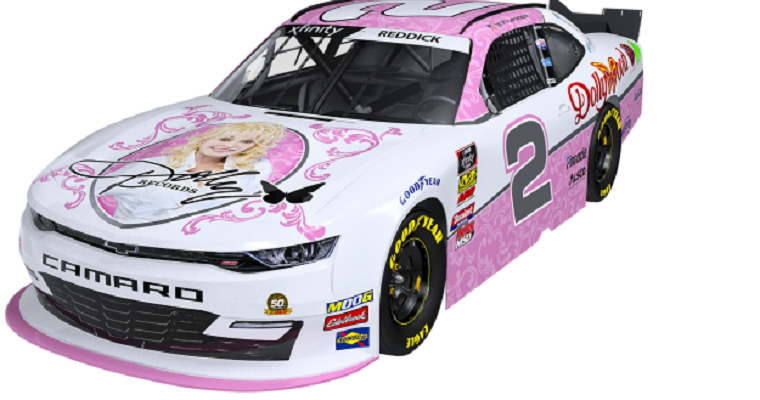 Dolly Parton Adorns a New NASCAR Camaro