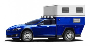 Tesla Model S Modified as an All-Electric RV