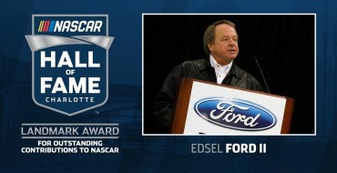 Edsel B. Ford II Wins 2020 Landmark Award for Outstanding Contributions to NASCAR