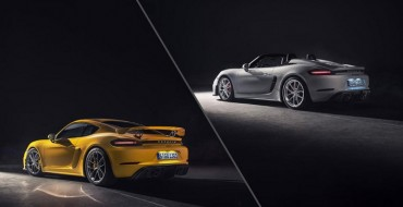 Porsche Unveils New 718 Spyder and Cayman GT4
