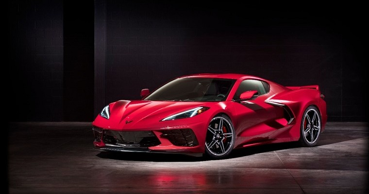 Someone Stole the Wheels From a 2020 C8 Corvette