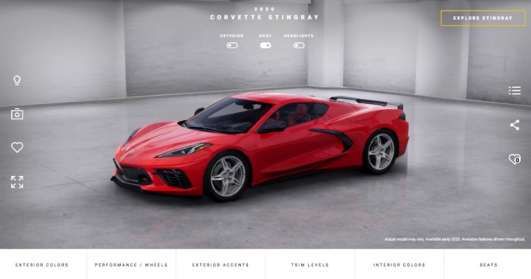 Corvette Visualizer Lets You Build Your Ideal 2020 Stingray