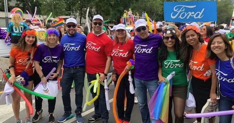 Ford Takes Part in 2019 Pride Parade in Mexico City