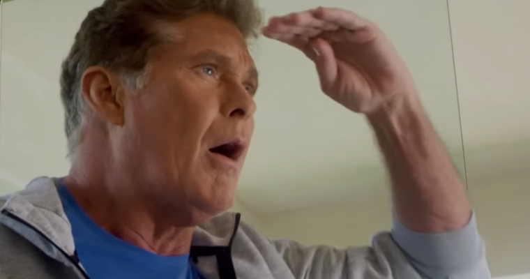 """The Hoff Promotes the BMW Summer Sales Event in True """"Baywatch"""" Style"""