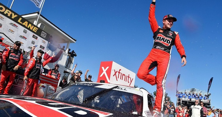 Toyota Supra Earns First Road-Course Win in NASCAR