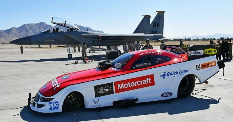 No Funny Stuff: Mustang Funny Car Driver Bob Tasca Breaks Sound Barrier