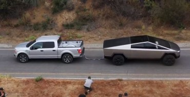 Ford Challenges Tesla Cybertruck to a Tug of War