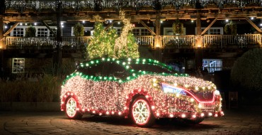 The Nissan LEAF Transforms into the Nissan TREE for Christmas