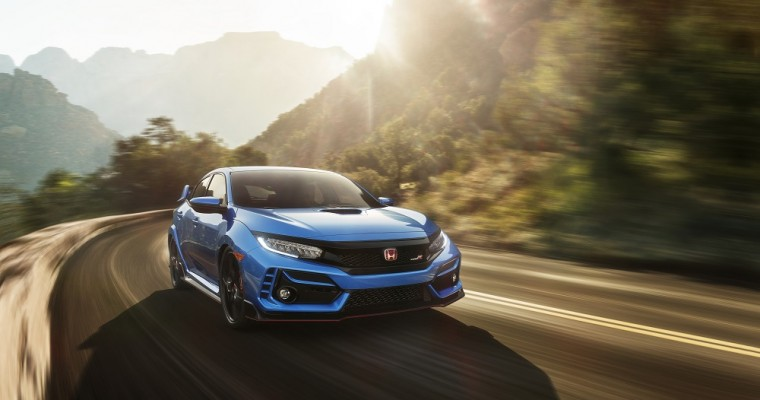 New Honda Civic Type R Gets Chassis Enhancements and is Blue