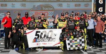 Jones Gave Toyota Its 500th NASCAR Win