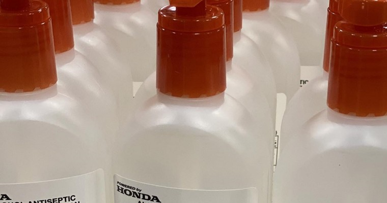 Honda and GM Team Up to Make Hand Sanitizer