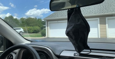 Why You Shouldn't Hang a Mask on Your Rearview Mirror