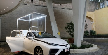 Pope Francis Gets Toyota Mirai Popemobile