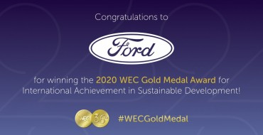 Ford Wins 2020 WEC Gold Medal Award for Sustainability