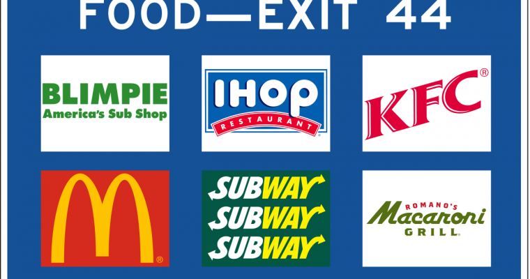 How Do Businesses Get On The Blue Highway Exit Signs?