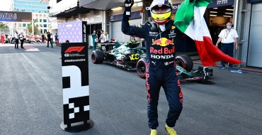 Pérez, Vettel, Gasly Podium at Crazy Baku
