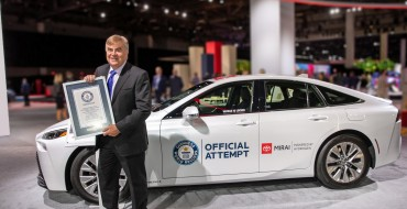 Toyota Mirai's Sets Guinness World Record With 845-Mile Trip