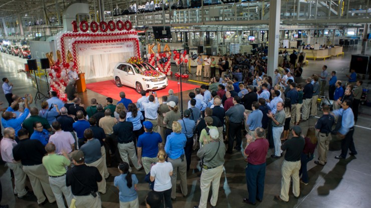 2014 Kia Sorento is One Millionth Kia Built in America