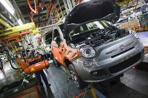 A Fiat gets a paint job