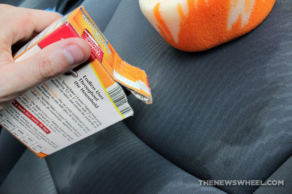 car seat cloth spill removal wash stain