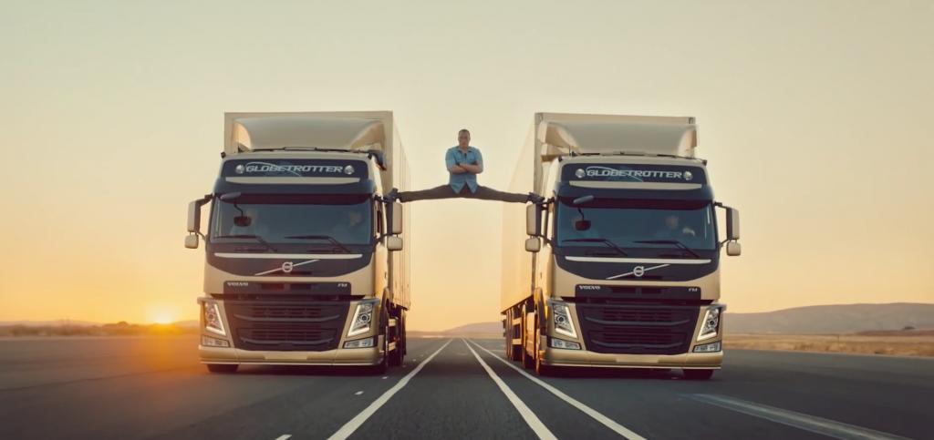 Van Damme splits truck stunt