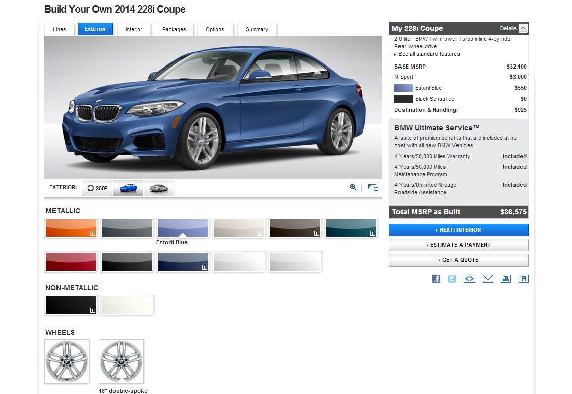 BMW Unleashes 2014 2 Series Configurator for 228i and M235i - The