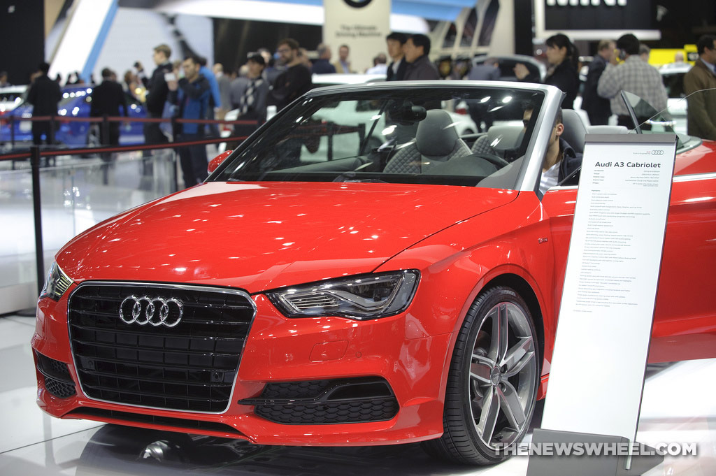 Audi NAIAS display: Audi A3 Cabriolet
