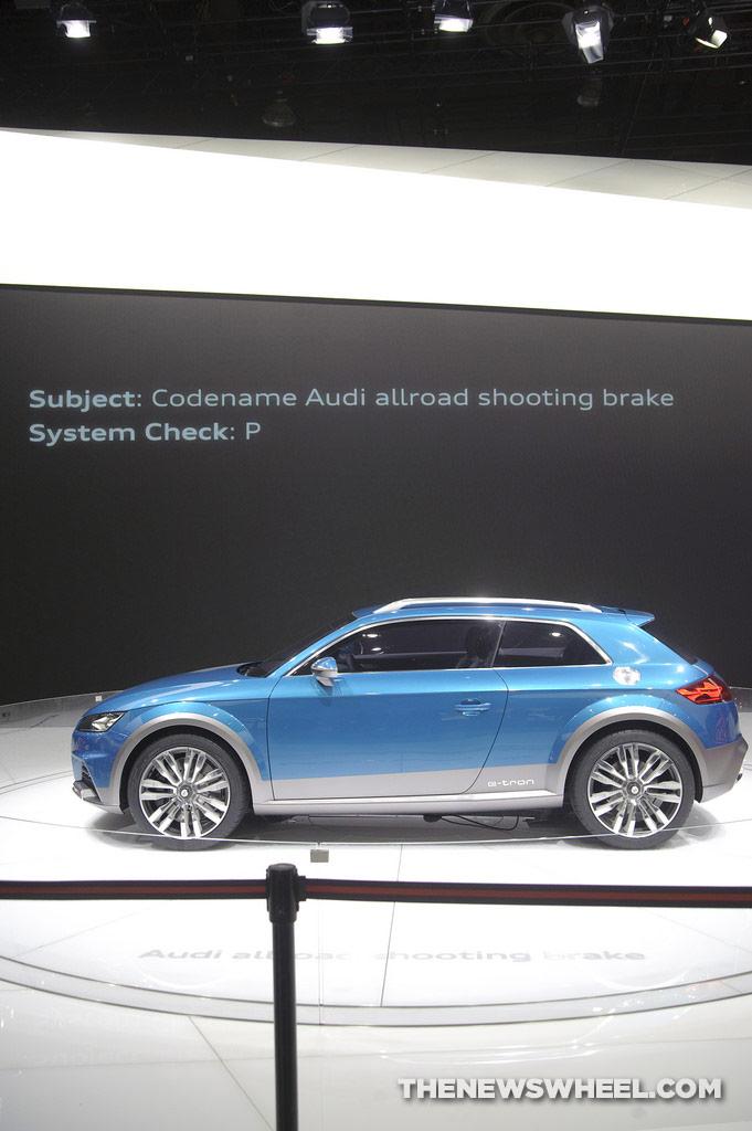 Audi NAIAS display: allroad shooting brake concept