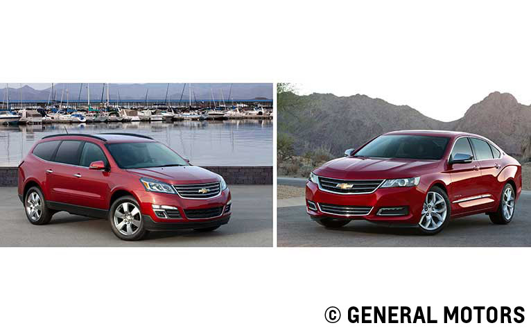 2014 Chevy Impala and Traverse