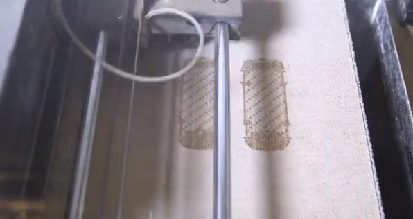 Chocolate Mustangs Being Printed