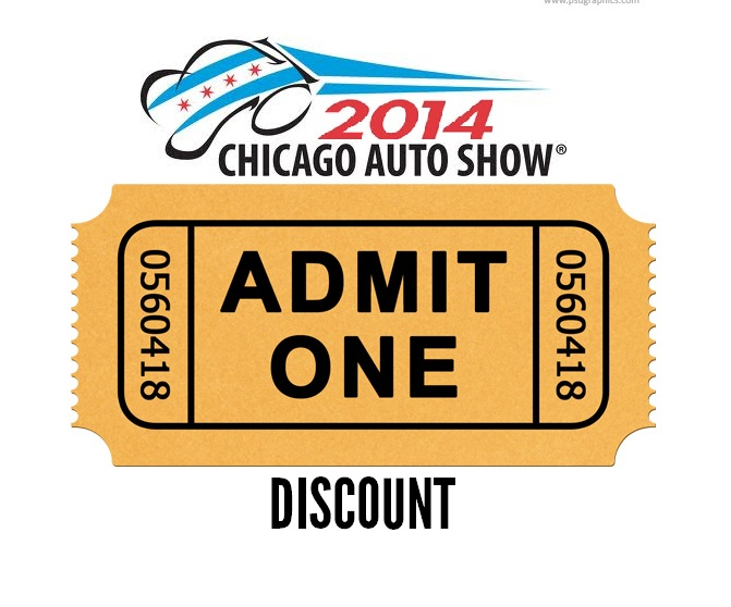 Chicago auto show ticket Discount