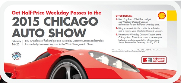 Chicago Auto Show Ticket Discount From Shell