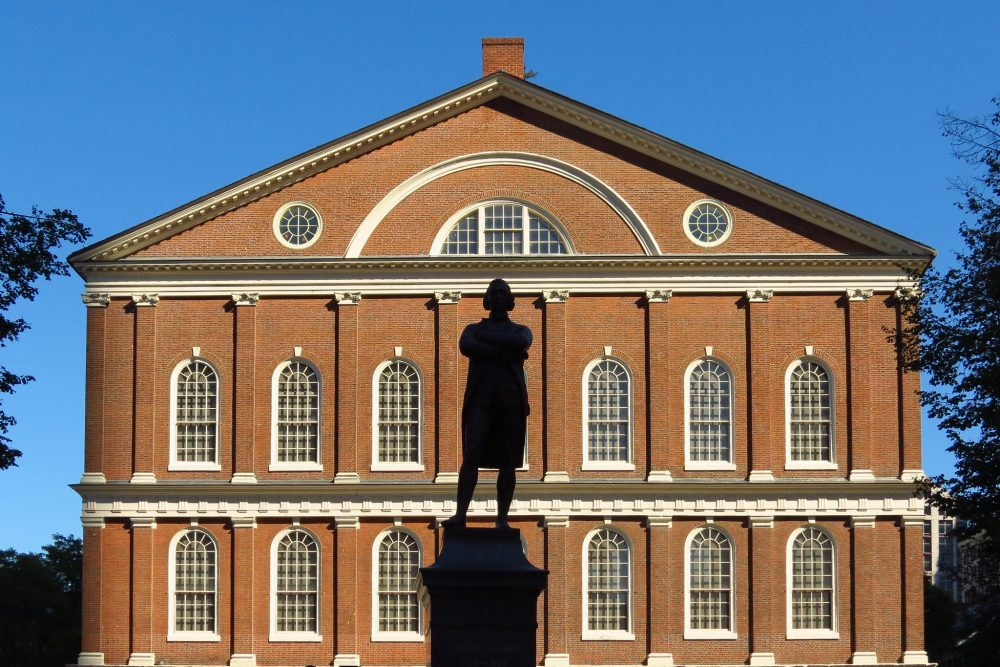 Faneuil Hall Square in Boston, Massachusetts