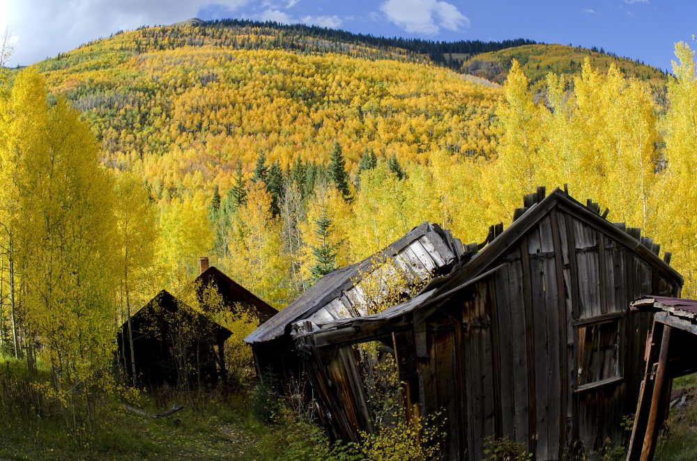 Abandoned buildings at Ironton ghost town, Colorado