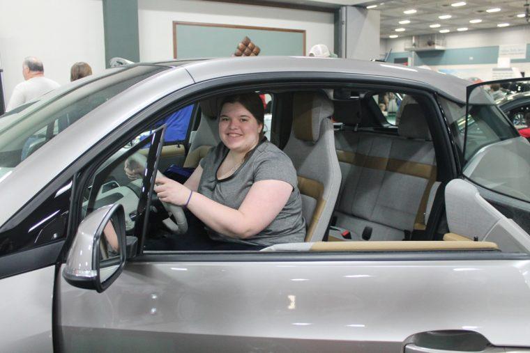 Rebecca Bernard in the new BMW i3