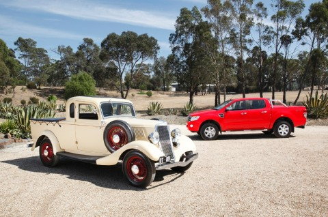 Ford utes old and new