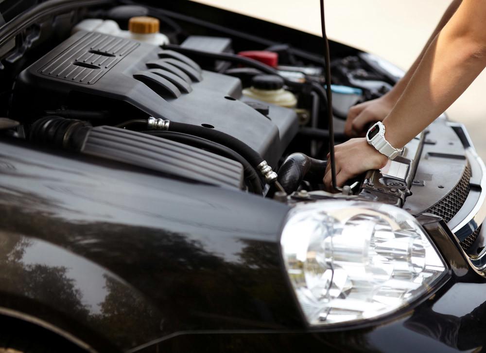 inside car hood engine diy