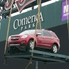 2014 Chevy trucks in Comerica Park