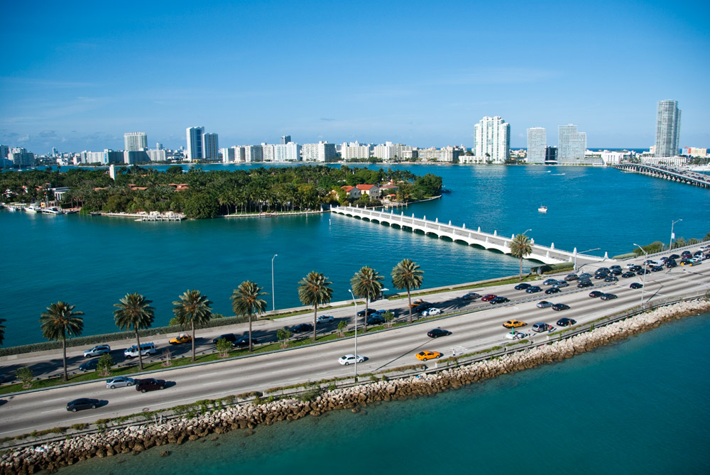Getting around in Miami can be done by taking one of four highways in and out of the city.