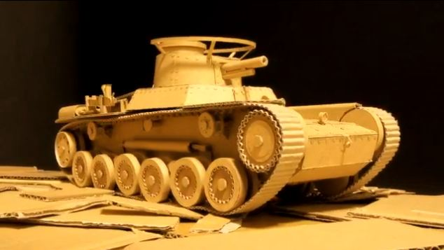 remote control tank from Amazon boxes