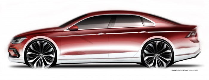 The Volkswagen New Midsize Coupé concept
