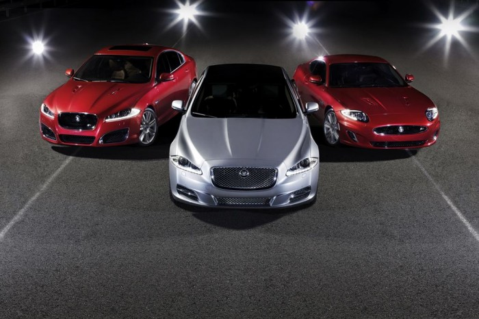 2013 Jaguar XF, XJ, and XK